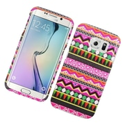 Insten Elegant Tribal Hard Cover Case For Samsung Galaxy S6 Edge - Colorful