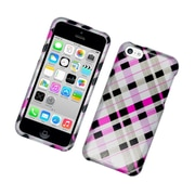 Insten Checker Hard Case For Apple iPhone 5C - Pink/Black