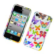Insten Butterfly Hard Case For Apple iPhone 4 4S - Colorful