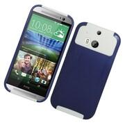 Insten Hard Hybrid Silicone Case For HTC One M8 - Blue/White