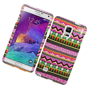 Insten Elegant Tribal Hard Rubber Coated Case For Samsung Galaxy Note 4 - Colorful