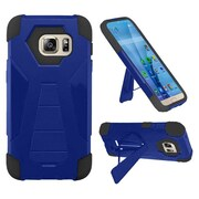 Insten Hard Dual Layer Plastic Silicone Cover Case w/stand For Samsung Galaxy S7 - Blue/Black