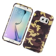 Insten Camouflage Hard Rubberized Cover Case For Samsung Galaxy S6 Edge - Brown
