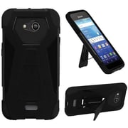 Insten Hard Hybrid Plastic Silicone Cover Case w/stand For Kyocera Hydro View - Black