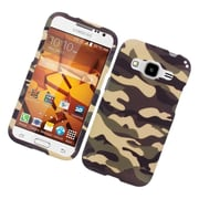 Insten Camouflage Hard Rubber Case For Samsung Galaxy Core Prime - Brown