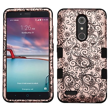 Insten Tuff Four-leaf Clover Hard Case For ZTE Grand X Max 2 / Imperial Max / Kirk / Max Duo 4G / Zmax Pro - Rose Gold