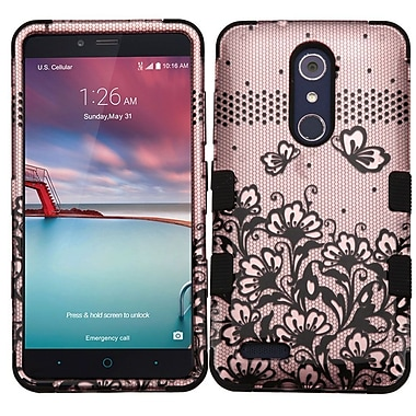 Insten Tuff Lace Flowers Hard Cover Case For ZTE Grand X Max 2 / Imperial Max / Kirk / Max Duo 4G / Zmax Pro - Rose Gold