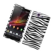 Insten Zebra Hard Cover Case For Sony Xperia Z / C6603 - Black/White