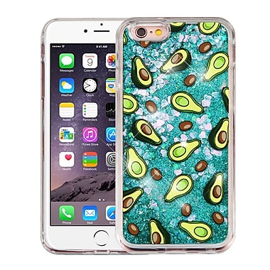 Insten Quicksand (Hearts) Glitter Hybrid Hard PC/TPU Case Cover For Apple iPhone 6s Plus / 6 Plus - Avocado Green
