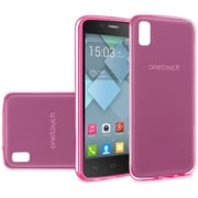 Insten Frosted Rubber Case For Alcatel One Touch Idol 4 - Hot Pink