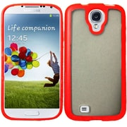 Insten Rubber Case For Samsung Galaxy S4 - Clear/Red