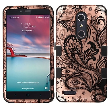Insten Tuff Phoenix Flower Hard Case For ZTE Grand X Max 2 / Imperial Max / Kirk / Max Duo 4G / Zmax Pro - Rose Gold