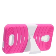Insten Wave Symbiosis Rubber Hard Cover Case w/stand For Alcatel One Touch Allura/Fierce 4/Pop 4+ - Hot Pink/White