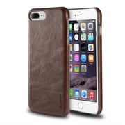 iPhone 7 Plus Case, by Insten Rear Clip-on Leather Slim Hard Case Protective Cover for Apple iPhone 7 Plus - Brown