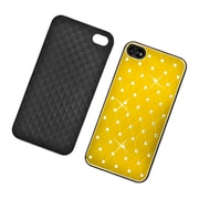 Insten Hard Chrome Cover Case with Diamond for iPhone 4 4S - Yellow