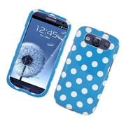 Insten Polka Dots Hard Plastic Case For Samsung Galaxy S3 - Blue/White