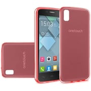 Insten Frosted Gel Case For Alcatel One Touch Idol 4 - Red