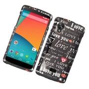 Insten Love You Hard Cover Case For LG Google Nexus 5 - Black/White