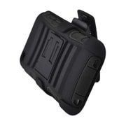 Insten Advanced Armor Hard Hybrid Plastic Silicone Case w/stand/Holster For Apple iPod Touch 4th Gen - Black