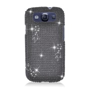 Insten Hard 3D Bling Case For Samsung Galaxy S3 - Black