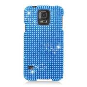 Insten Hard 3D Bling Case For Samsung Galaxy S5 - Blue