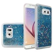 Insten Liquid Quicksand Glitter Fused Flexible Hybrid TPU Cover Case For Samsung Galaxy S6 - Light Blue