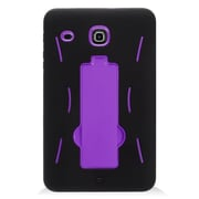 Insten Symbiosis Hybrid Hard Silicone Amor Shockproof Stand Case For Samsung Galaxy Tab E 8 - Black/Purple