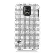 Insten Hard 3D Bling Case For Samsung Galaxy S5 - Silver