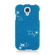 Insten Hard 3D Diamond Case For Samsung Galaxy S4 - Blue