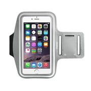 Insten Silver Sports Running Workout Exercise Armband Case For iPhone 6 Plus 6S Plus / Galaxy Note 4 3 (with key Holder)