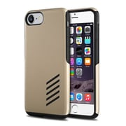 iPhone 7 Case, by Insten Black Skin Soft TPU Rubber + Gold Hard Shockproof Anti-Scrathes Hybrid Case for Apple iPhone 7