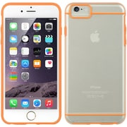 Insten Fusion Candy Glamon Transparent Skin Rubber Gel Case For Apple iPhone 6s Plus / 6 Plus - Orange