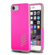 iPhone 7 Case, by Insten Light Gray Skin/Hot Pink Hard Shockproof Anti-Scrathes Hybrid Case for Apple iPhone 7