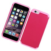 Insten Hard Hybrid Rubberized Silicone Case For Apple iPhone 6/6s - Pink/Hot Pink