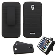 Insten Hard Dual Layer Rubber Silicone Case For Alcatel One Touch Pop Astro - Black