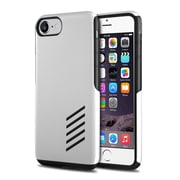 iPhone 7 Case, by Insten Black Skin Soft TPU Rubber + White Hard Shockproof Anti-Scrathes Hybrid Case for Apple iPhone 7