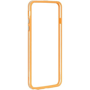 Insten Hard Dual Layer Crystal TPU Cover Case for Apple iPhone 6s Plus / 6 Plus - Clear/Orange