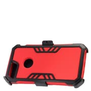 Insten Hybrid Hard Silicone Dual Layer Protective Case Cover + Holster Clip For Apple iPhone 7 Plus - Red/Black