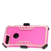 Insten Hybrid Hard Silicone Dual Layer Protective Case Cover + Holster Clip For Apple iPhone 7 Plus - Hot Pink/Rose Gold