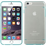 Insten Fusion Candy Skin Rubber Gel Shell Case For Apple iPhone 6s Plus / 6 Plus - Blue