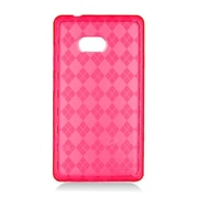 Insten Checker TPU Clear Case For Nokia Lumia 810 - Red