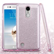 Insten Glitter Hybrid Hard/TPU Shcokproof Back Case Cover For LG Aristo / Fortune / K8 (2017) / LV3 / Phoenix 3 - Pink