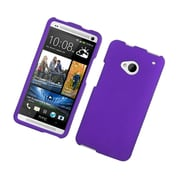 Insten Hard Rubber Cover Case For HTC One M7 - Purple