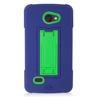 Insten Symbiosis Rubber Hybrid Hard Case with stand For LG Lancet - Blue/Green