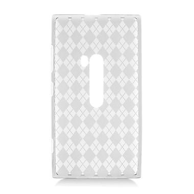 Insten Checker Rubber Case For Nokia Lumia 920 - Clear