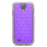 Insten Hard Chrome Cover Case with Diamond For Samsung Galaxy S4 - Purple