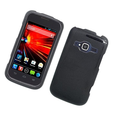 Insten Carbon Fiber Hard Rubberized Case For ZTE Concord II - Gray/Black