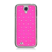 Insten Hard Chrome Case with Diamond For Samsung Galaxy S4 - Hot Pink