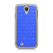 Insten Hard Chrome Cover Case with Diamond For Samsung Galaxy S4 - Blue