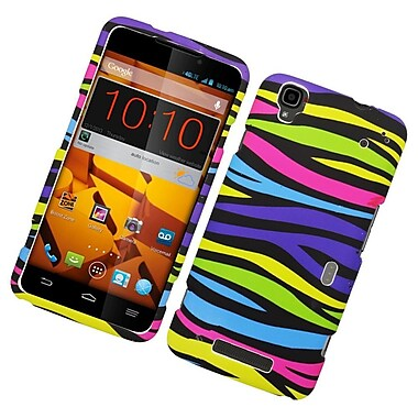 Insten Zebra Hard Rubber Case For ZTE Max - Colorful